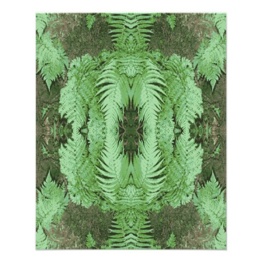 Fern Pattern Graphic. Green. Full Color Flyer