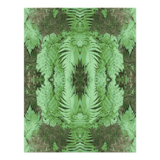 Fern Pattern Graphic Green Personalized Flyer