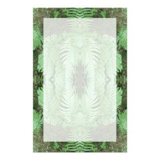 Fern Pattern Graphic. Green. Stationery