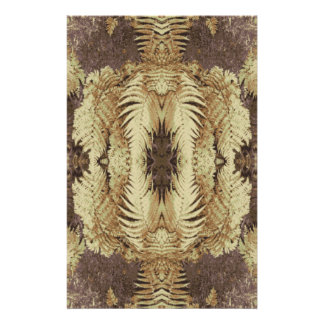 Fern Pattern Graphic Khaki and brown Flyers
