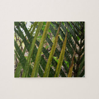 fern pattern puzzle green on green