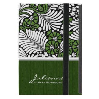Fern Print in Green and White iPad Mini Cover