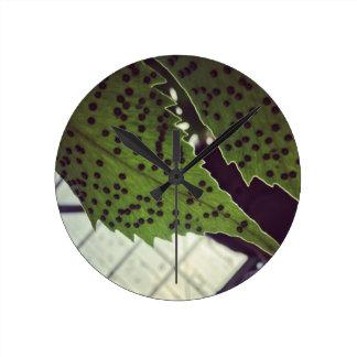 fern round clock