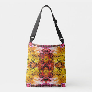 Ferns Rust and Gold Patch Fractal Cross Body Bag