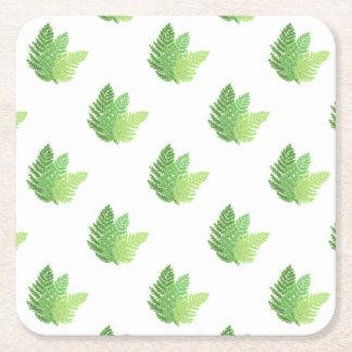 Ferns Square Paper Coaster