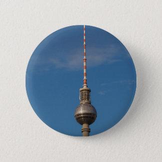 Fernsehturm Television Tower Alexanderplatz Berlin 6 Cm Round Badge