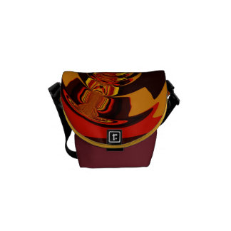 Ferocious – Abstract Amber & Orange Creature Mini Courier Bags
