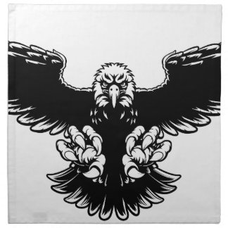 Ferocious Eagle Mascot Napkin