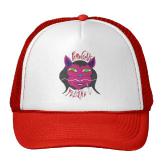 """""""Ferocious Feline"""" Trucker Hats"""