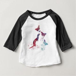 Ferret and butterflies baby T-Shirt