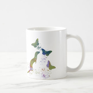 Ferret and butterflies coffee mug