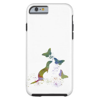 Ferret and butterflies tough iPhone 6 case