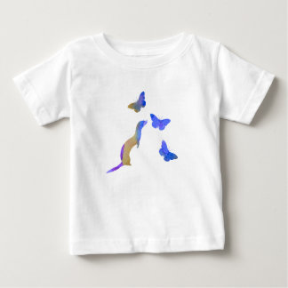 Ferret and butterflys baby T-Shirt