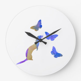 Ferret and butterflys large clock