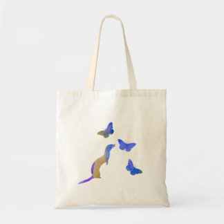 Ferret and butterflys tote bag