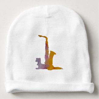 Ferret and saxophone baby beanie