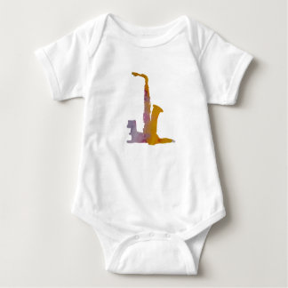 Ferret and saxophone baby bodysuit