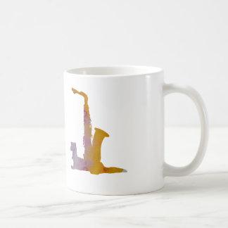 Ferret and saxophone coffee mug