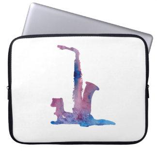 Ferret and saxophone laptop sleeve