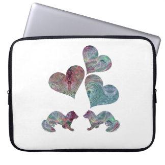 Ferret art laptop sleeve