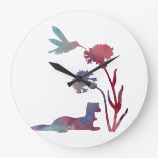 Ferret Art Large Clock