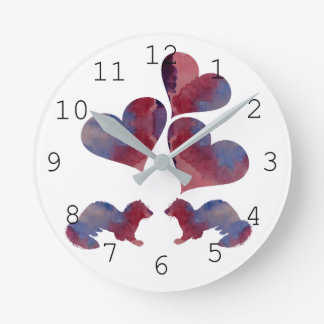 Ferret art round clock