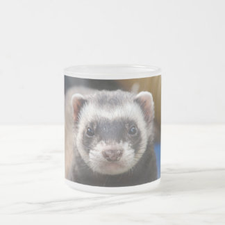 Ferret Frosted Glass Coffee Mug