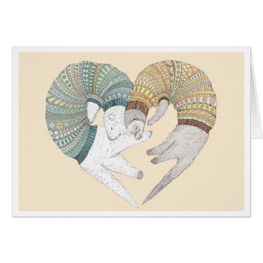 Ferret love card