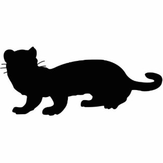 Ferret-outlined; black photo cut out