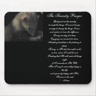 Ferret Serenity Prayer Mouse Pad
