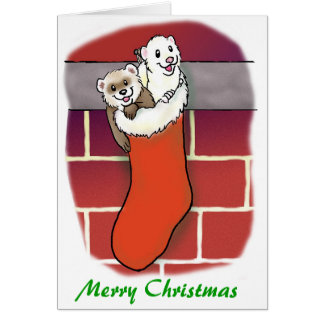 Ferret Stocking Stuffers Card