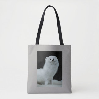 Ferret Taxidermy Mount with Anti-Fur Trade Quote Tote Bag