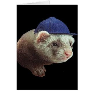 Ferret Wearing Hat Card