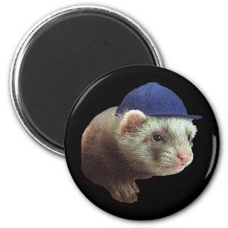 Ferret Wearing Hat Fridge Magnets