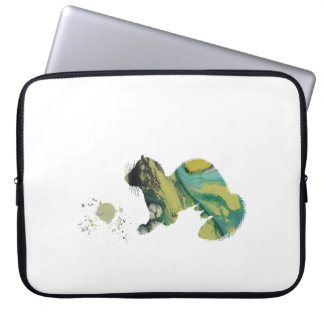 Ferret with toy laptop sleeve