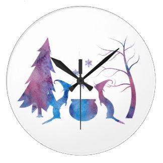 Ferrets Large Clock