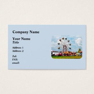 Ferris Wheel Against Blue Sky Business Card