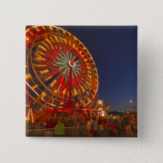 Ferris wheel at dusk at the Northwest Montana 15 Cm Square Badge