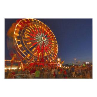 Ferris wheel at dusk at the Northwest Montana Photo