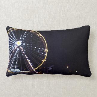 Ferris wheel at Night Lumbar Cushion