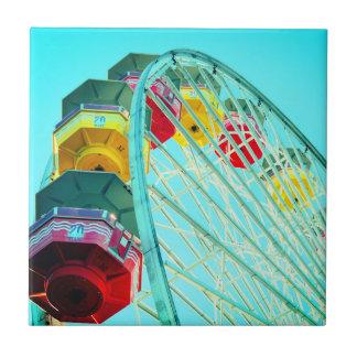 Ferris Wheel at Santa Monica Pier, California Ceramic Tile