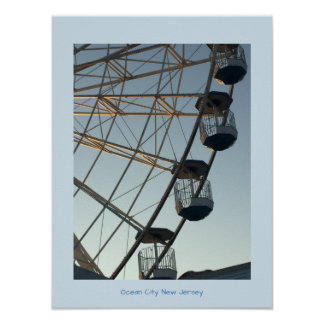 Ferris Wheel at Sunset Ocean City New Jersey Poster