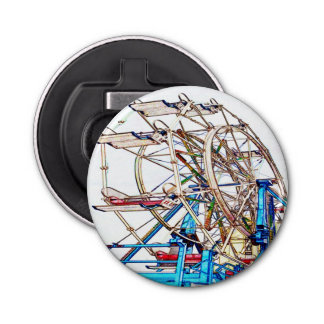 Ferris Wheel-Chalk Outline by Shirley Taylor Bottle Opener