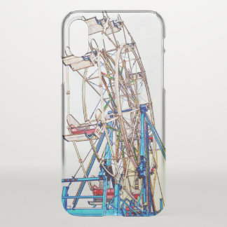 Ferris Wheel-Chalk Outline by Shirley Taylor iPhone X Case
