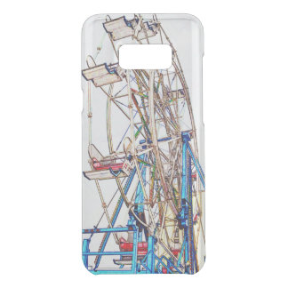 Ferris Wheel-Chalk Outline by Shirley Taylor Uncommon Samsung Galaxy S8 Plus Case