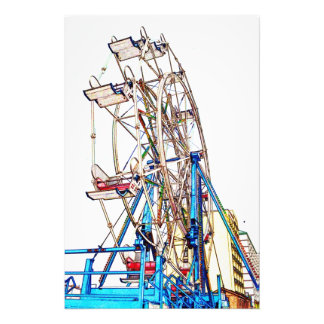 Ferris Wheel-Chalk Outline Photo