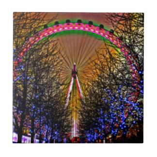 Ferris Wheel Christmas Lights Ceramic Tile