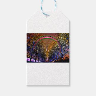 Ferris Wheel Christmas Lights Gift Tags