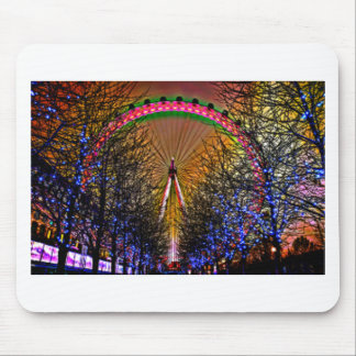 Ferris Wheel Christmas Lights Mouse Pad