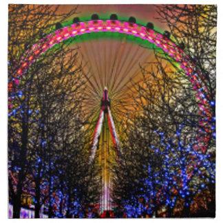 Ferris Wheel Christmas Lights Napkin